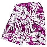 WANG Summer Trousers Men Funny Print Purple Flower Beach Board Shorts Man Elastic Waist Casual Shorts,Purple Flower,XL