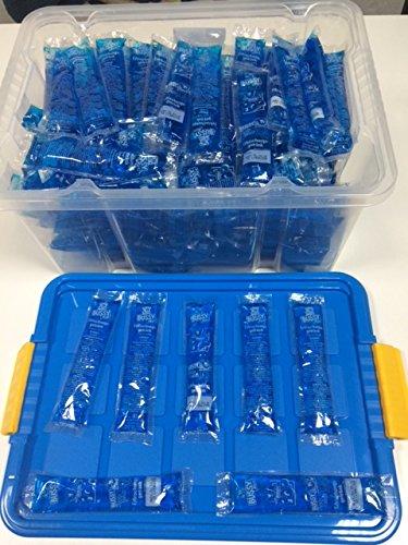 Wassereisbox mit Deckel und 200 X Wassereis Blau-Bär a 40 ml Lutscheis Eis
