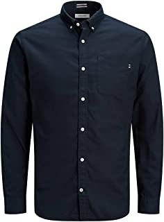 Jack & Jones Men's Jjeclassic Soft Oxford Shirt L/S Noos Button