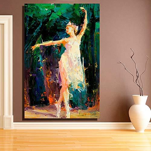 ganlanshu Rahmenlose Malerei Abstrakte Wandmalerei, Wanddekoration, Wanddekoration für tanzende Mädchen Poster Home DecorationZGQ3718 60X90cm