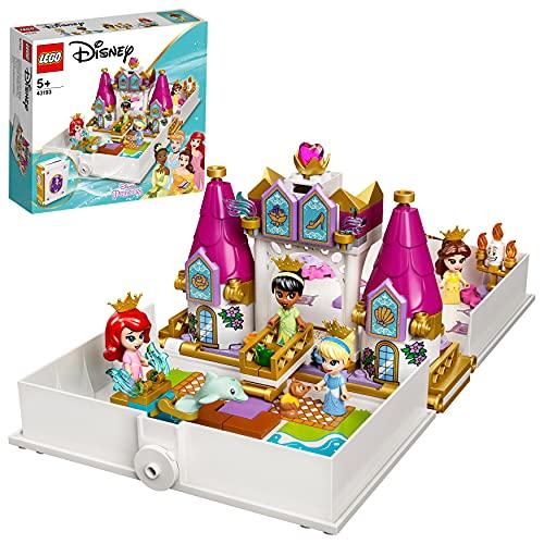 LEGO 43193 Disney Cuentos e Historias: Ariel, Bella, Cenicienta y Tiana, Castillo de...