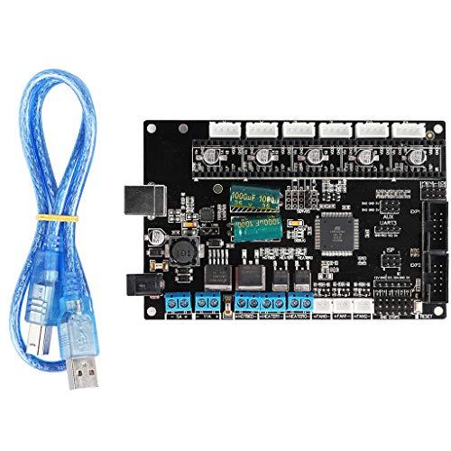 Cutebility Gaming Mainboards Kompatibel mit TriGorilla Integrate Mainboard Mega2560 und RAMPS1.4 4Layers PCB Controller Board Motherboard 3D-Druckerzubehör Hauptplatine