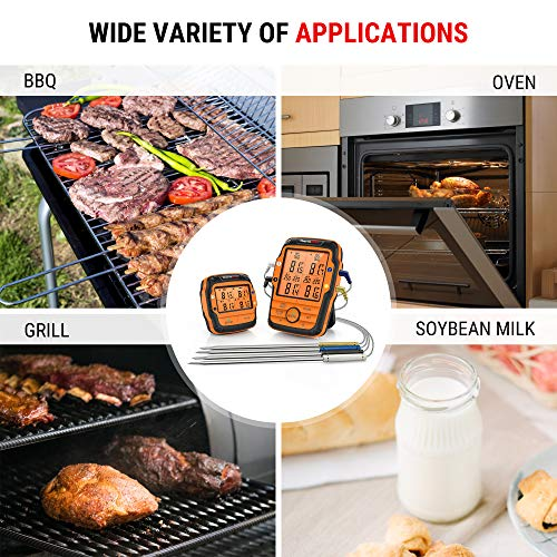 Product Image 4: ThermoPro TP27 500FT Long Range Wireless Meat Thermometer for Grilling and Smoking with 4 Probes Smoker BBQ Grill Thermometer Kitchen Food Cooking Thermometer for Meat