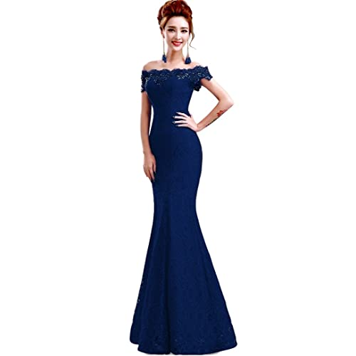 Navy Blue Lace Bridesmaid Dress: Amazon.com