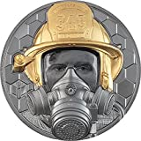 Power Coin Firefighter Real Heroes 5 Oz Moneda Oro 500$ Cook Islands 2021