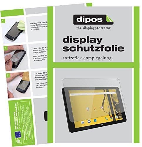 dipos I 2X Schutzfolie matt kompatibel mit Archos Kodak Tablet 10,1 Zoll Folie Bildschirmschutzfolie