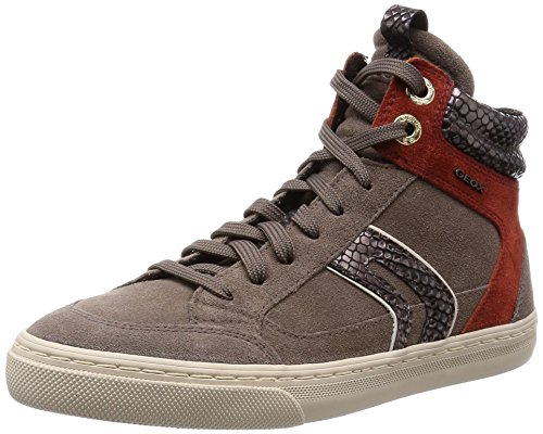 Geox Damen D New Club A High-Top, Beige (C1B5HDOVE Grey/Cinnamon), 37 EU