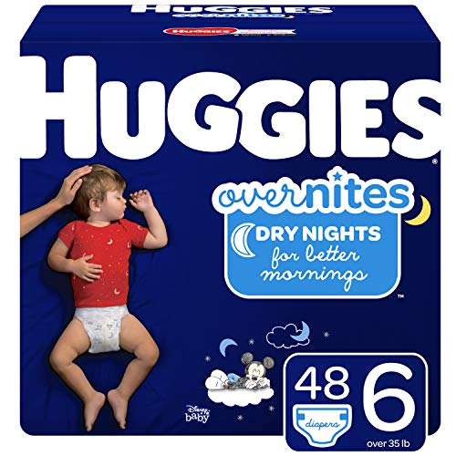 Product Image of the Huggies Overnites Nighttime Diapers, Size 6, 48 Ct