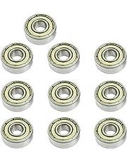 ZHITING 606ZZ Rodamiento rígido de Bolas de 6 x 17 x 6 mm, 10 Piezas, rodamientos de Bolas en Miniatura con Doble blindaje de Metal, Aptos para rodamientos de monopatín(Paquete de 10)