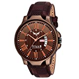 VILLS LAURRENS Analogue Men's & Boys' Watch (Coffee Brown Dial Brown Colored Strap)