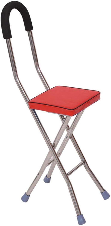 Huikafir Alpenstock Alpenstock Alpenstock Edelstahl Cane Seat Klapp Gehgestell Hocker Kann 120kg 24x33x80 cm tragen Trekkingstange B07P1S77WV  Gesunder Rhythmus 6bd29b