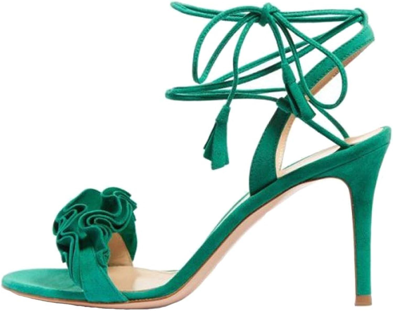 Themost Sandals for Women,High Heeled Sandal Slender Stiletto Heel Wrap-Around Self-Tied Straps Dress Pump