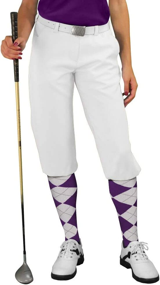 1920s Style Women's Pants, Trousers, Knickers, Tuxedo Golf Knickers White Womens Par 3 - Microfiber  AT vintagedancer.com