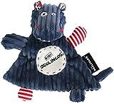 Les Déglingos - Hippipos l'hippo - Baby Doudou - Doudou pour bébé et Enfant - Tissu ultra Doux - Peluche - Ludique - Cadeau naissance
