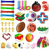 mUj1 36Pc Fidget Toy Packs, Set De Juguetes Sensoriales Fidget Baratos,para Sensory Toy Box para Niños Adultos /Autismo Regalo/ Fiesta Navidad Cumpleaños