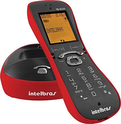 Telefone sem Fio Digital TS 8220, Intelbras, Vermelho