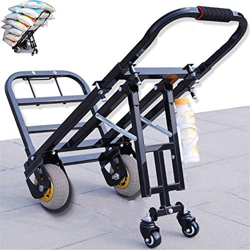 pEI Gepäckwagen Leicht Klappbar Leichtgewichtiger Transportkarre Für Reisen/Geschäftsreise/Schwerlasttransport 200 Kg/440 lbs Kapazität