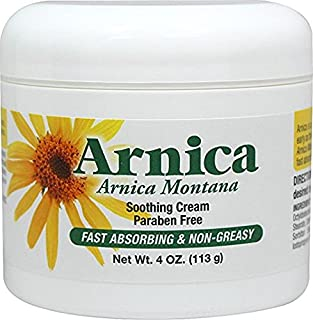 Arnica Soothing Cream 4 oz Paraben Free 2 Pack Not Tested on Animals Made in USA for Puritan's Pride