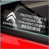 5 x CITROEN GPS rastreador 87 x 30 seguridad ventana calcomanías mm-Picasso, Berlingo, Cactus, C4, C3, D5, coche, furgoneta paginacion Tracker