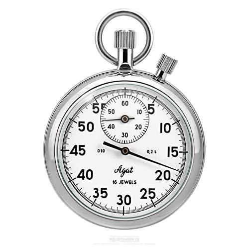 Cronómetro de reloj mecánico ruso con tope de suma, analógico, 1/5 segundos, 30 minutos de Rusia