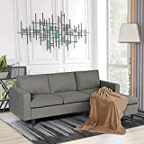 Modern Fabric Convertible Sectional Sofa Couch for Small Apartment, L-Shaped...