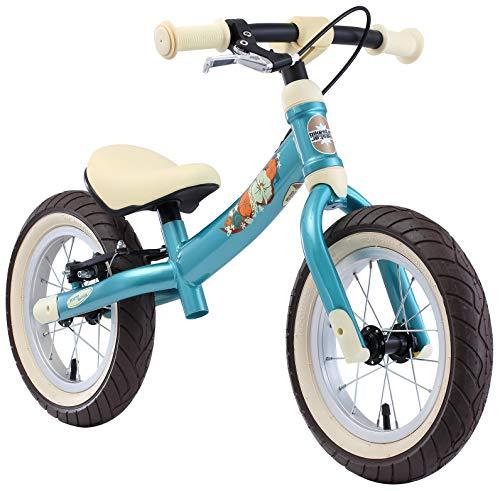 BIKESTAR Mitwachsendes Kinder Laufrad Lauflernrad Kinderrad für Jungen und Mädchen ab 3-4 Jahre | 12 Zoll Flex Sport Kinderlaufrad | Türkis | Risikofrei Testen