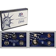 Comes in Original Government Packaging! 9 Coin Set - Includes a Penny, Nickel, Dime, 5 Statehood Quarters, Half Dollar Proof coins are struck twice using specially prepared dies and planchets delivering coins with mirror-like finishes and exquisite d...