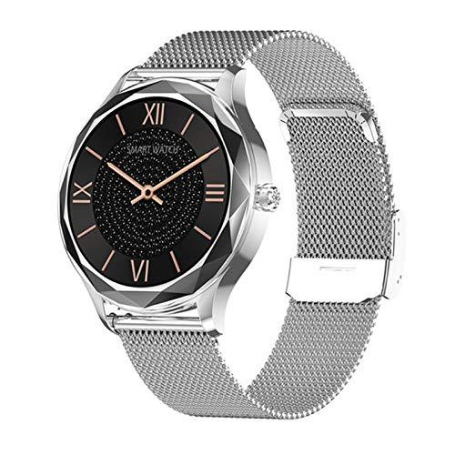 JXFF DT86 2021 SmartWatch Man Women's Reloj de Mujer Ritmo cardíaco Monitor de presión Arterial Gimnass Tracker Sport Smart Watch para iOS Android,D