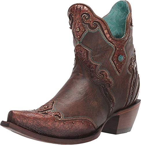 Corral Boot Company Womens Ladies Brown Embroidery and Studs Bootie brown Size: 6 UK