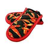 Evoio Potholders and Oven Mitts, Maximum Temperature Hot Handle Holder, Cotton Stripe Quilted Pan...