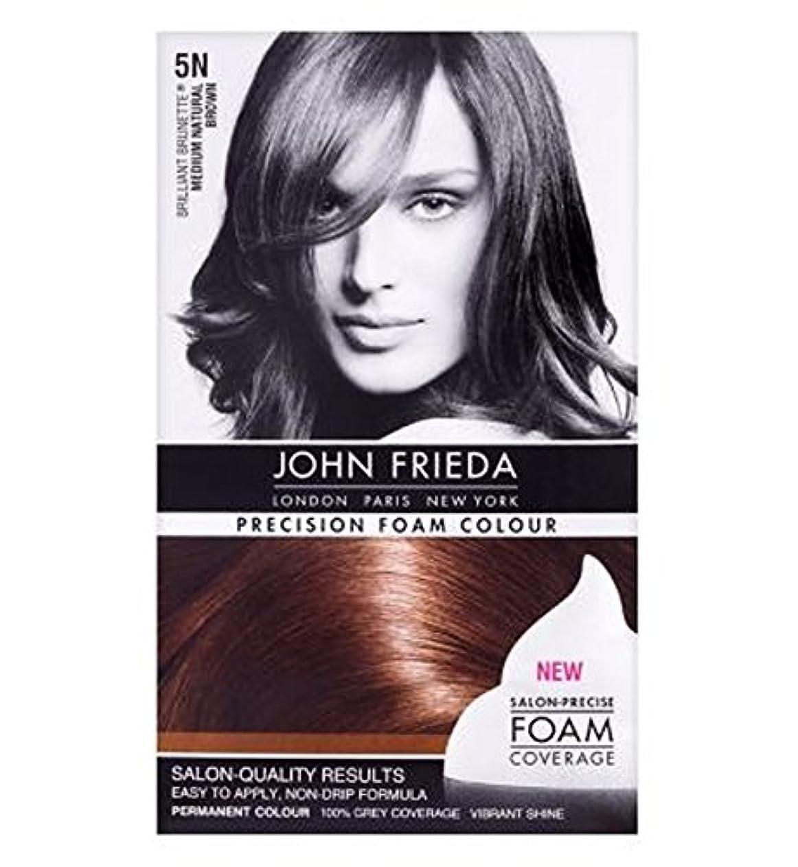 冒険者努力競合他社選手John Frieda Precision Foam Colour Medium Natural Brown 5N - ジョン?フリーダ精密泡カラーミディアムナチュラルブラウン5N (John Frieda) [並行輸入品]
