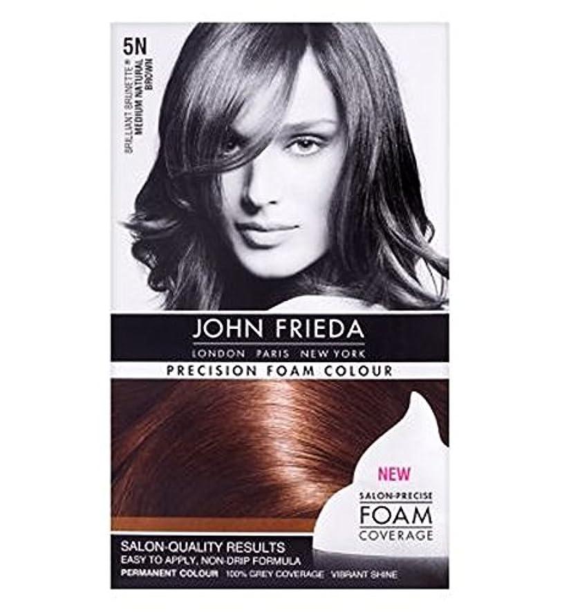 葉巻分離する外交ジョン?フリーダ精密泡カラーミディアムナチュラルブラウン5N (John Frieda) (x2) - John Frieda Precision Foam Colour Medium Natural Brown 5N (Pack of 2) [並行輸入品]