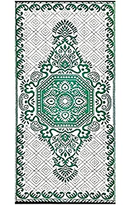 BalajeesUSA 2 Pk 3'x6' Reversible Patio mats Indoor Outdoor Rugs Patio Picnic rv Mat 20256 from Joshi Group INC