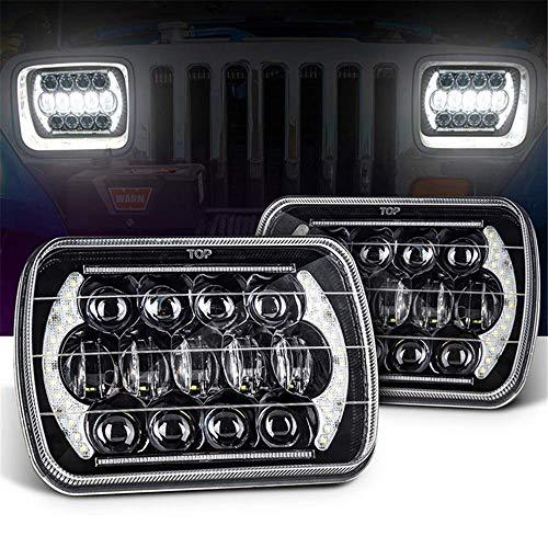 Universal-Auto-Auto-LED Scheinwerfer-Birnen-Lichter 5X7 \'\' 7X6 \'\' Rechteckig H4 Hallo/Lo BEAM Für Suvs Trucks Motorrad Offroad-Fahrzeuge,2pcs
