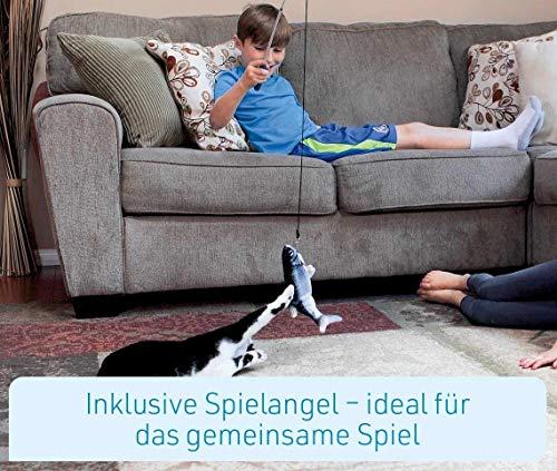 Mediashop Flippity Fish - 2 Stück – elektrisches Katzenspielzeug – Katzenminze - wiederaufladbar mit USB Kabel - Verschiedene Geschwindigkeitsstufen, mit Spielangel | Das Original aus dem TV - 4