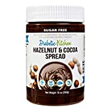 Diabetic Kitchen Sugar Free Hazelnut Cocoa Spread - Low Carb Chocolate Dessert Spread - Keto Treats...