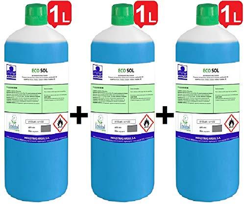 ECOSOL 3X1 Litro. ECOLABEL. Detergente profesional multiusos concentrado (limpia cristales) ECOLÓGICO. Limpieza...