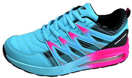 gibra® Sportschuhe, Art. 7227, sehr leicht und bequem, türkis/pink, Gr. 36