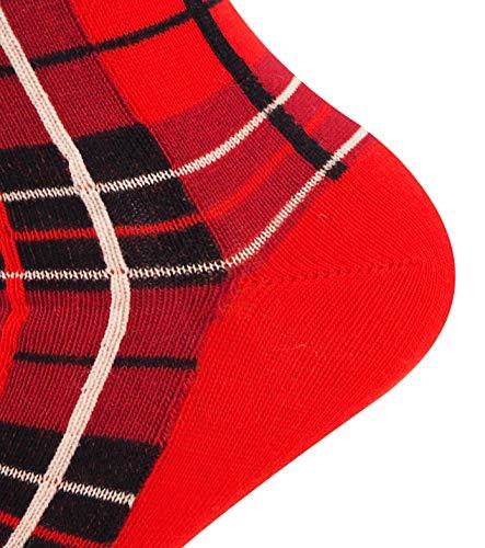 Mysocks Men Socks Tartan Design Checked Socks Red