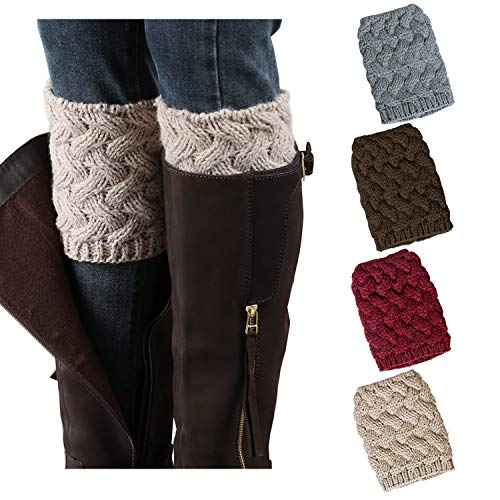 Singular Grace Womens Short Boots Socks Crochet Knitted Cuffs Girls Leg Warmers for Party Sports