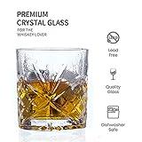 Amisglass Juego de Vaso de Whisky, Vaso Set 4 Piezas de Cristal Sin Plomo para Whisky, Vino, Vaso Clásica para Licores Whisky con Cuerpo Grabado,  …