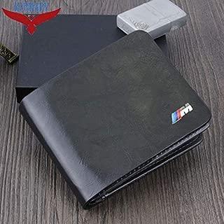 Genuine Leather Black Car Logo Document Bag Wallet Card Package for BMW M Logo E21 E30 E36 E46 E90 E91 E92 E93 F30 X KUNBABY Color Name Black