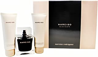 Narciso Rodriguez 3 Piece Gift Set For Women - Eau De Toilette 3.3 Ounce + Body Lotion 2.5 Ounce + Showergel 2.5 Ounce