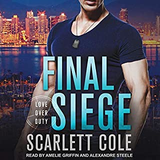 Final Siege     Love Over Duty Series, Book 2              Written by:                                                                                                                                 Scarlett Cole                               Narrated by:                                                                                                                                 Amelie Griffin,                                                                                        Alexandre Steele                      Length: 10 hrs and 3 mins     Not rated yet     Overall 0.0