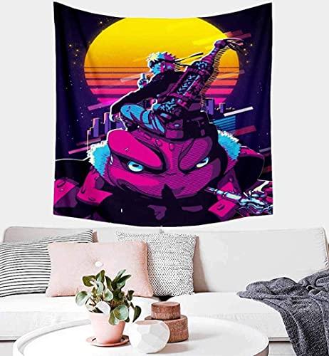 Tapiz De Arte Digital Kakashi Para Colgar En La Pared, Tapiz Temático De Hatake Tapiz Diseñado Con Neón De Naruto, Manta De Pared Brillante, Decoración Para Dormitorio, Sala De Estar, Dormitorio