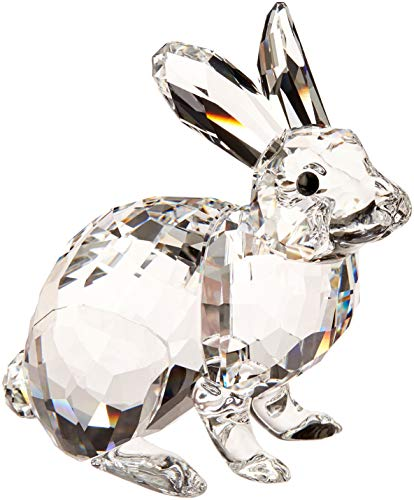 Swarovski Hase Figura, Cristallo, Trasparente, 5.1x 4.9x 3cm
