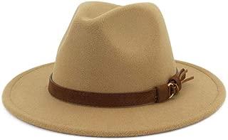 Lisianthus Men & Women Vintage Wide Brim Fedora Hat with...