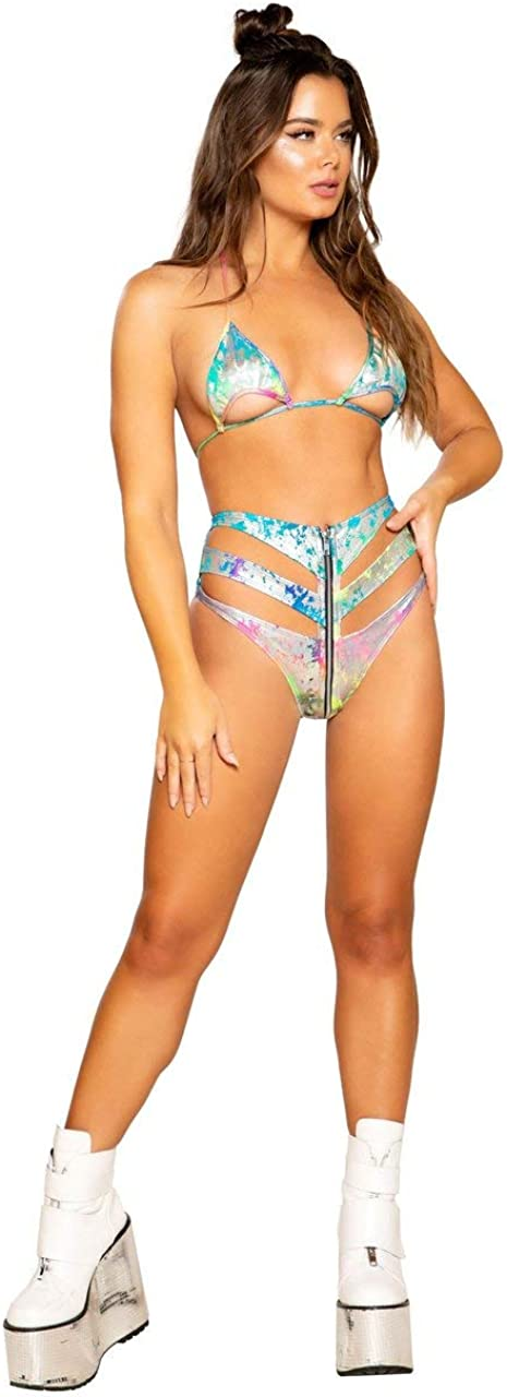 Roma Costume Rainbow Luxury goods Splash Cutout High-Waisted Zipp with Ranking TOP6 Shorts