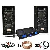 "Set per DJ ""DJ-25"" amplificatore, casse, microfono 1600W"