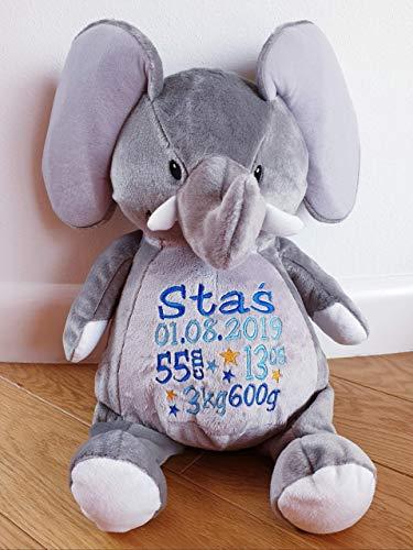 Peluche éléphant personnaliser au prénom